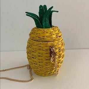 Summer crossbody wicker purse